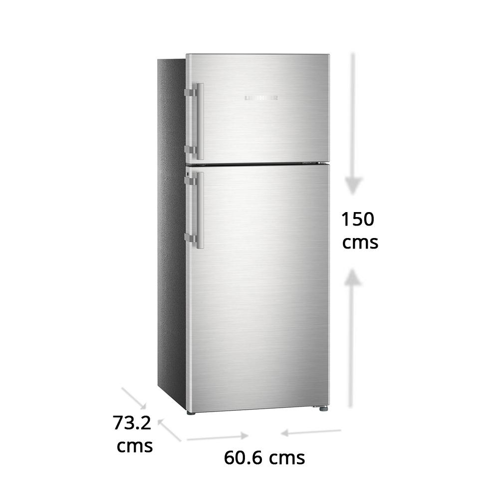 Liebherr 265 litres 4 Star Double Door Refrigerator, Stainless steel look  TCss 2640