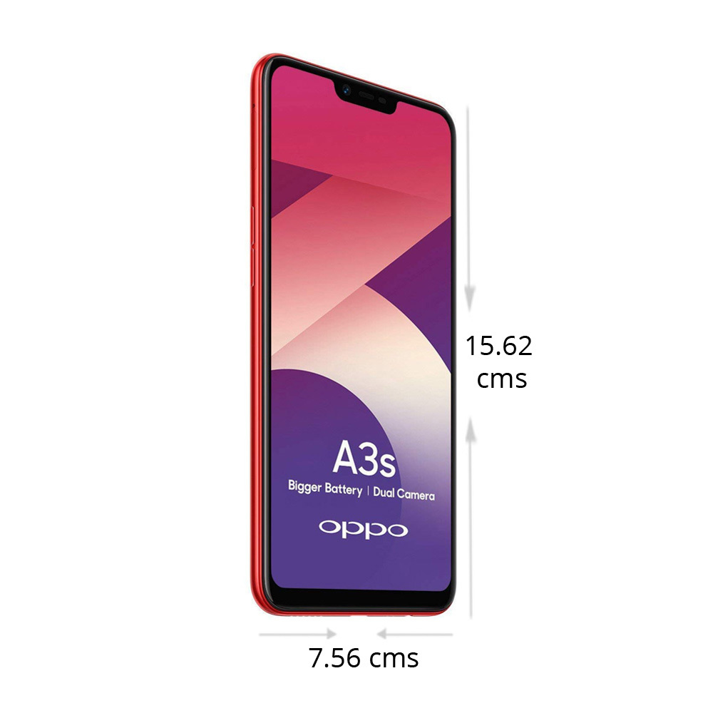 Buy Oppo A3s Smart Phone 16 GB, 2 GB RAM, Red at Reliance Digital