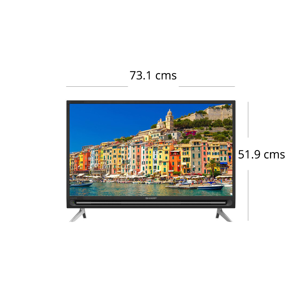Sharp 81 28 cm (32 inch) HD LED Smart TV, LC-32SA4500X