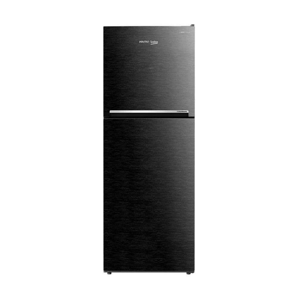 Voltas Beko 250 litres 3 Star Double Door Refrigerator, Wooden Black RFF273B