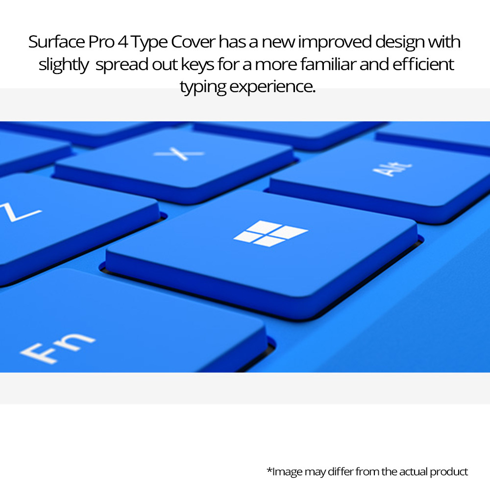 shop for microsoft keyboard cover for surface pro 4 blue at