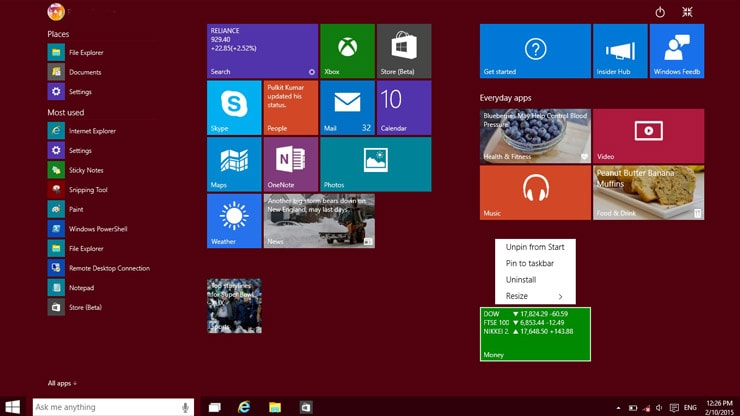 Hands-on with the Windows 10 Technical Preview | | Resource Centre