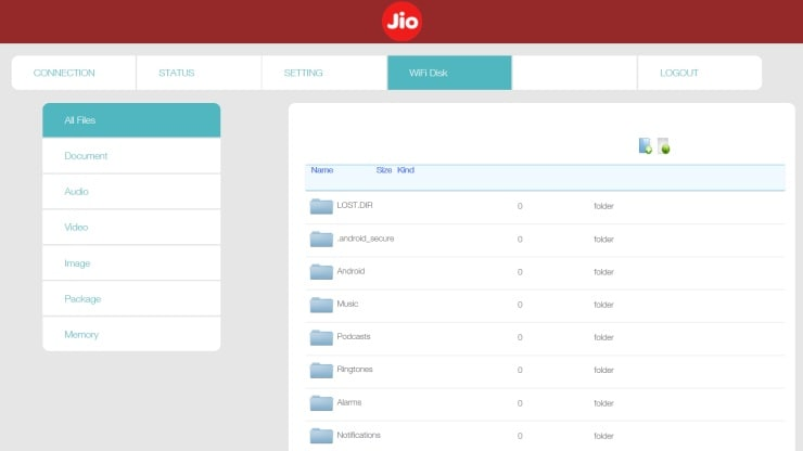 How to store and access data from your JioFi device | | Resource